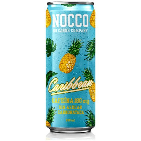 NOCCO CARIBBEAN CON CAFEINA BCCA Y TE VERDE 330ML