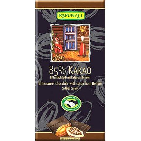 TABLETA CHOCOLATE 85% CACAO 80G