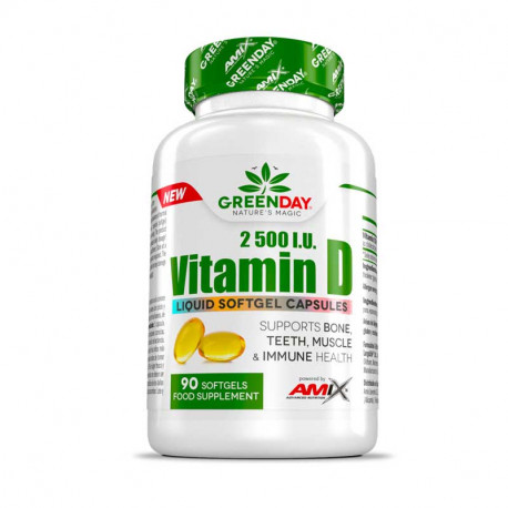 AMIX GREENDAY VITAMIN D 2500 I.U 90 CAPS