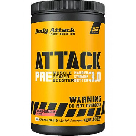 BODY ATTACK PRE WORKOUT ATTACK 3.0 600 G