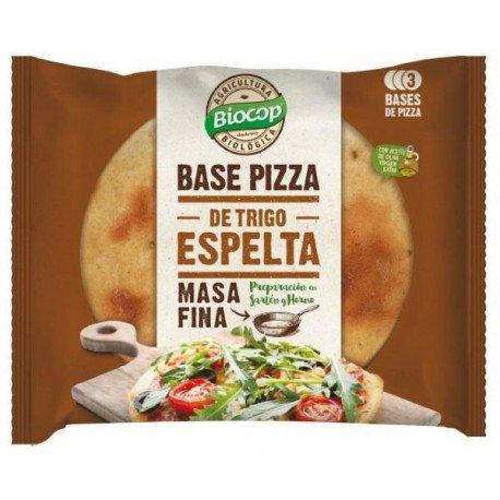BIOCOP BASE DE PIZZA TRIGO ESPELTA 3 UNIDADES