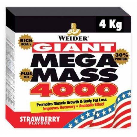 WEIDER MEGA MASS 4000 4KG.