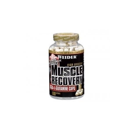 WEIDER MUSCLE RECOVERY BCAA+GLUTAMINA 180 Caps.