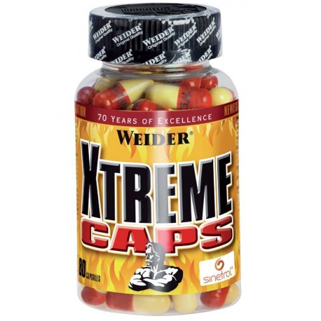 WEIDER XTREME CAPS 80 Caps.