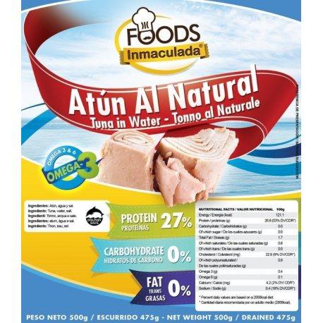INMACULADAFOODS ATÚN AL NATURAL BOLSA 500 G.