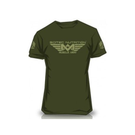 CAMISETA SCITEC MUSCLE ARMY GREEN