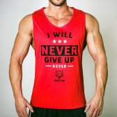 CAMISETA I WILL NEVER GIVE UP