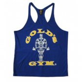 CAMISETA GOLD'S GYM AZUL DOBLE SERIGRAFÍA