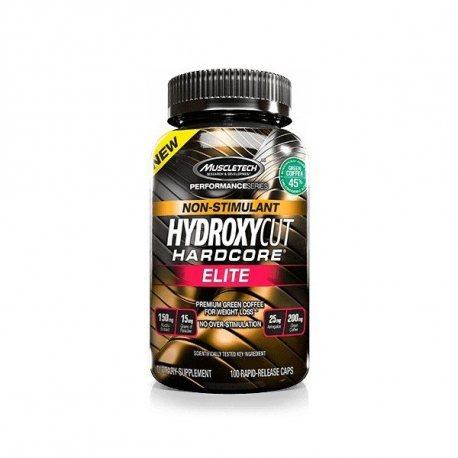 MUSCLETECH HYDROXYCUT HARDCORE ELITE 100 CAPS. NON STIMULANT