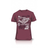 CAMISETA SCITEC MADE OF IRON BURGUNDY
