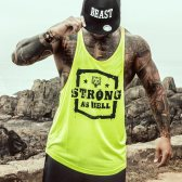CAMISETA GREAT I AM STRING FLUO STRONG AS HELL