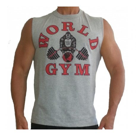 CAMISETA WORLD GYM GRIS
