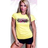 SCITEC CAMISETA GIRL GRAFFITI YELLOW