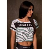 GREAT I AM MUJER CROPTOP LEAVES