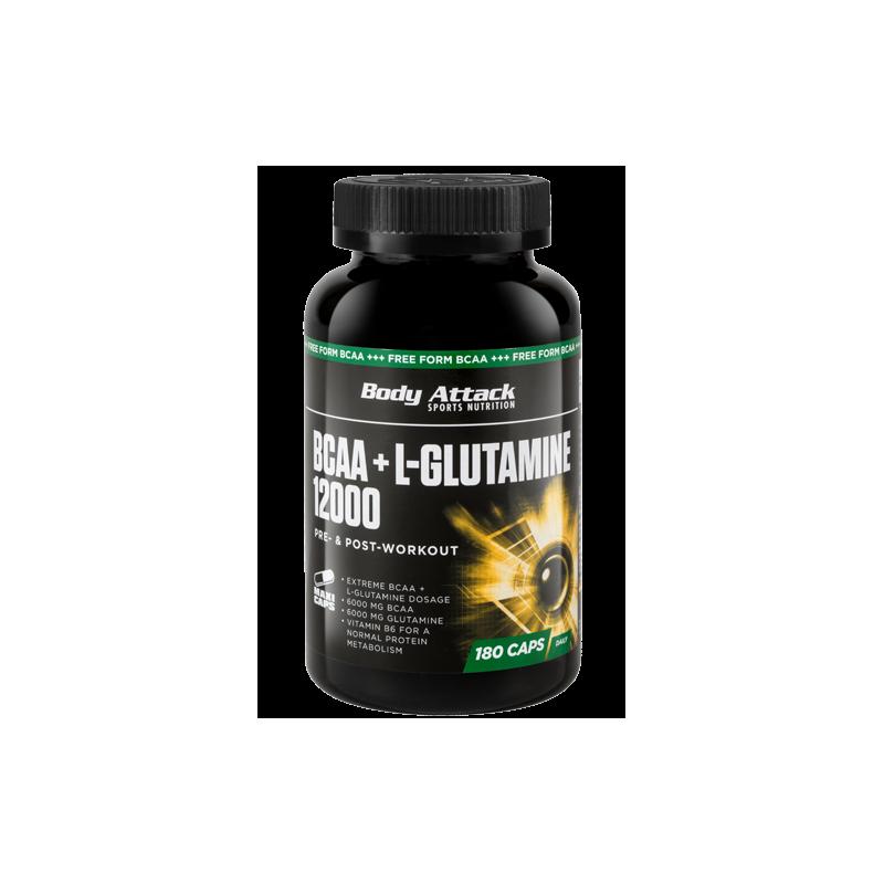 body-attack-bcaaglutamine-12000-180-caps BCAA vs. Proteína de Suero