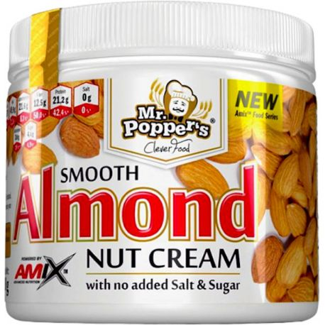 MR POPPERS SMOOTH ALMOND NUT CREAM 300G