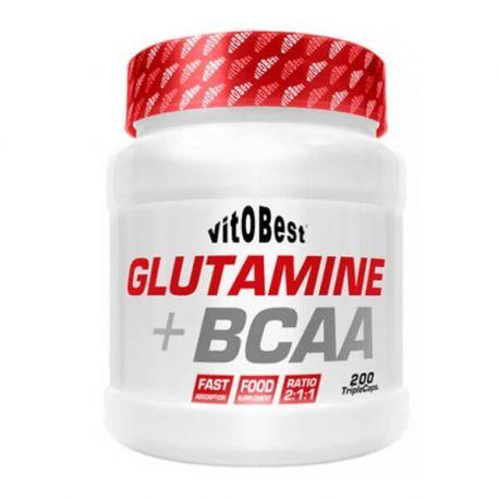 VIT.O.BEST GLUTAMINE + BCAA 200 TRIPLECAPS