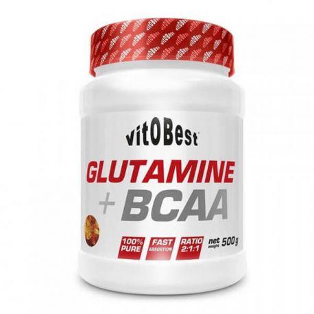 VIT.O.BEST GLUTAMINE + BCAA 500G VARIOS SABORES