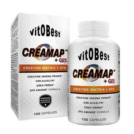 VIT.O.BEST CREAMAP + GFS AMINOS 100 CAPS.