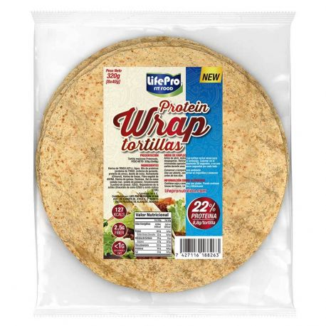 LIFE PRO FIT FOOD PROTEIN WRAP TORTILLAS PROTEICAS 8X40G