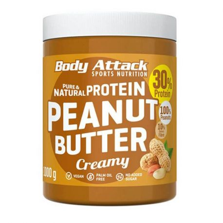 BODY ATTACK ORGANIC PEANUT BUTTER 1KG