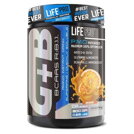 LIFE PRO BCAA + GLUTAMINA AJINOMOTO 300 G.