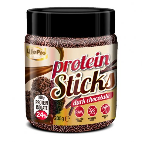 LIFE PRO FIT FOOD PROTEIN STICKS DARK CHOCOLATE 250G