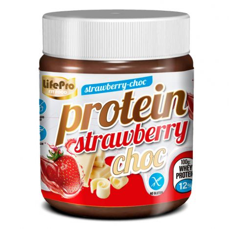 LIFE PRO FIT FOOD PROTEIN CREAM STRAWBERRY CHOC 250G