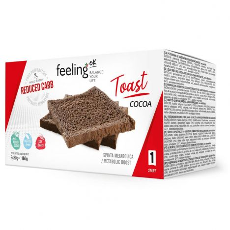 FEELING OK START TOAST COCOA 2X80G