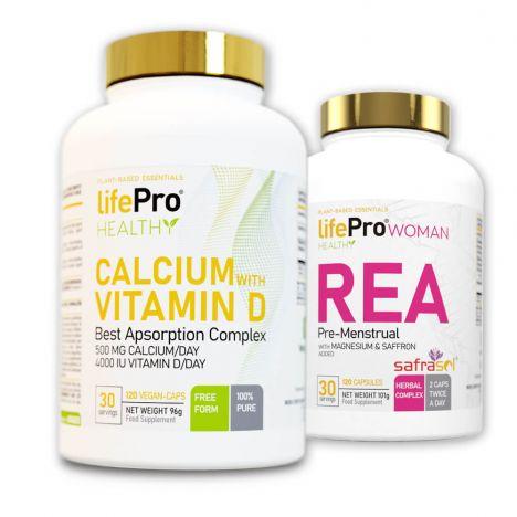 LIFE PRO REA 120 VEGANCAPS + CALCIUM + VITAMIN D 120 VEGANCAPS