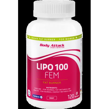 BODY ATTACK LIPO 100 FEM 120 CAPS.