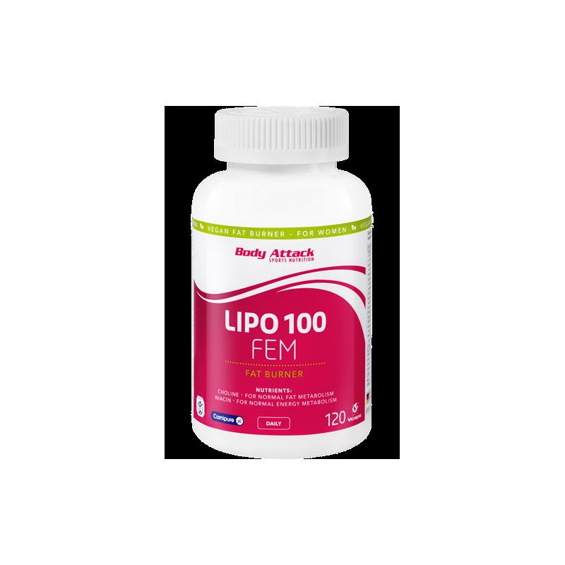 body-attack-lipo-100-fem-120-caps Como eliminar la grasa según donde la tengas