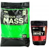 PACK OPTIMUM SERIOUS MASS 12 LBS + WHEY GOLD 450G
