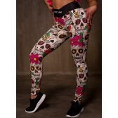 GREAT I AM LEGGING MEXICAN SKULL