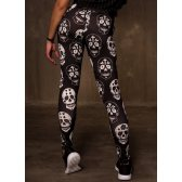 GREAT I AM LEGGING BLACK SKULL