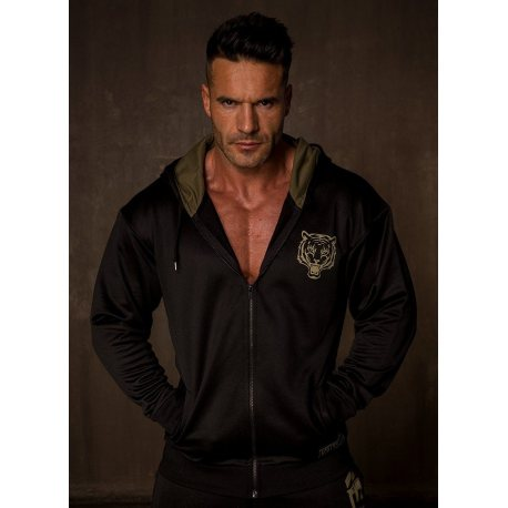 GREAT I AM CHAQUETA CON CAPUCHA ARMY BLACK