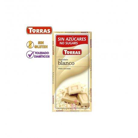 TORRAS CHOCOLATE BLANCO SIN AZÚCAR 75 G