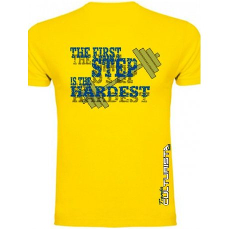 CAMISETA TIENDACULTURISTA AMARILLA THE FIRST STEP CANARIAS