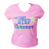 CAMISETA TIENDACULTURISTA MUJER ROSA THE FIRST STEP