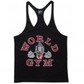 CAMISETA WORLD GYM TIRANTES NEGRA