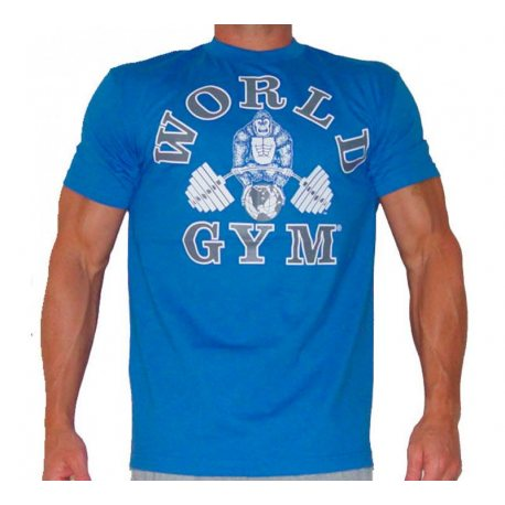 CAMISETA WORLD GYM MANGA CORTA AZUL