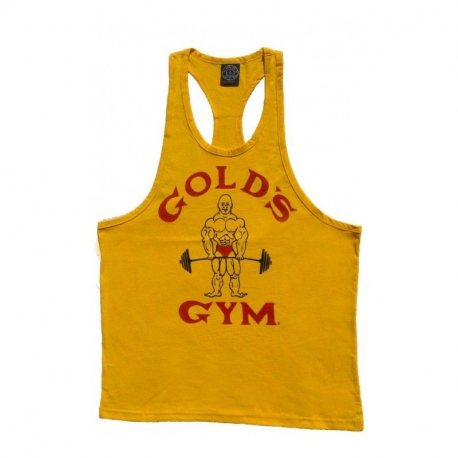 GOLD'S GYM CAMISETA JOE AMARILLA VINTAGE