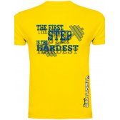 CAMISETA TÉCNICA TIENDACULTURISTA AMARILLA THE FIRST STEP CANARIAS