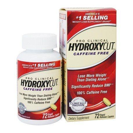 MUSCLETECH HYDROXYCUT PRO CLININAL CAFFEINE FREE 72 CAPS