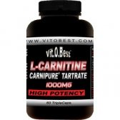 VIT.O.BEST L-CARNITINA CARNIPURE 1000MG.  120 CAPS