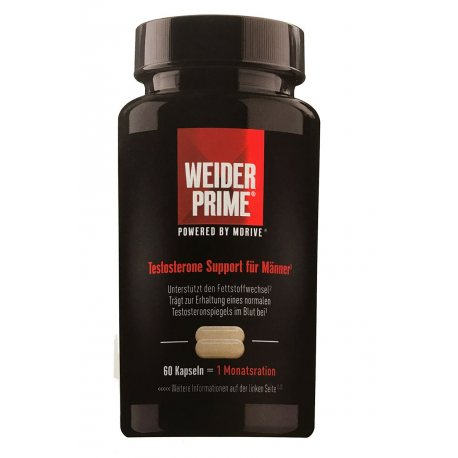 WEIDER PRIME TESTOSTERONE SUPPORT 60 CAPS