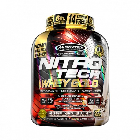 MUSCLETECH NITRO TECH 100% GOLD 6 LBS.