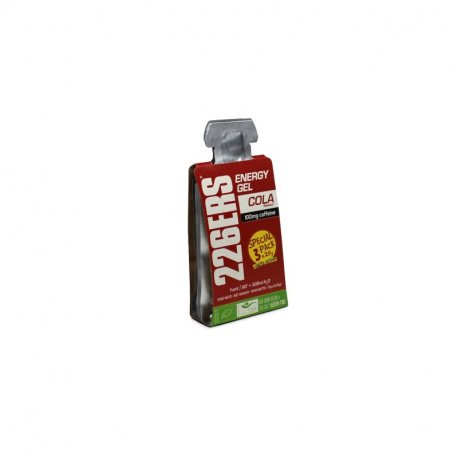 226ERS PACKX3 ENERGY GEL BIO 25G COLA 100MG CAFFEINE