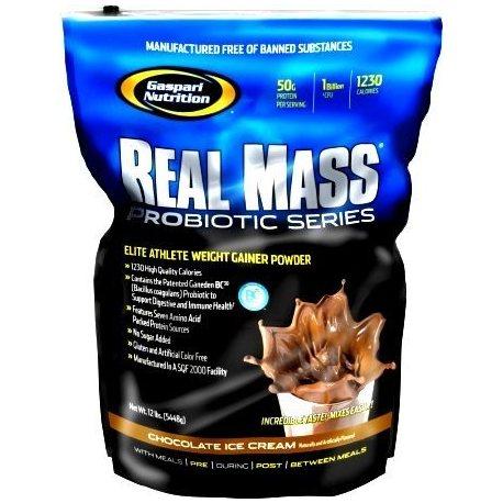 GASPARI NUTRITION REAL MASS PROBIOTIC SERIES 12 LBS