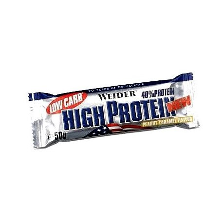 WEIDER 40% HIGH PROTEIN BAR LOW CARB 50G